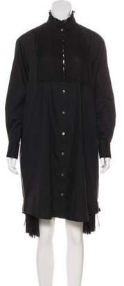 Sacai Long Sleeve Knee-Length Dress