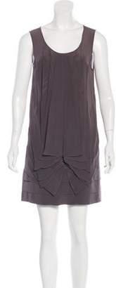 Fendi Pleated Silk Dress