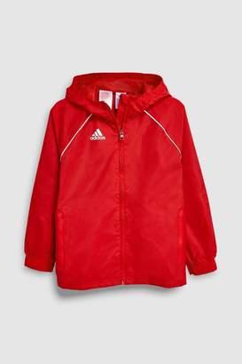 adidas Boys Football Core Red Rain Jacket - Red