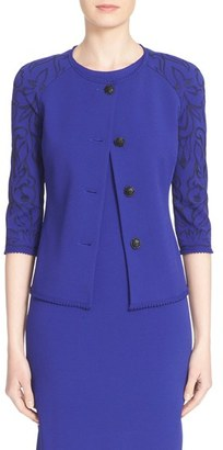 Women's St. John Collection Jacquard Knit Jacket $1,395 thestylecure.com