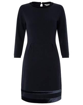 Monsoon Estella Velvet Trim Smart Dress