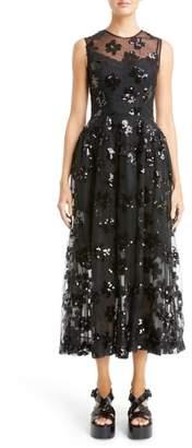 Simone Rocha Sequin Tulle Midi Dress