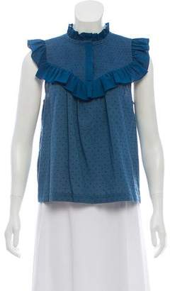 Rachel Zoe Ruffle-Accented Sleeveless Top w/ Tags