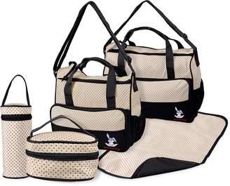 Technotec TechnoTec Multi-Function Baby Diaper Nappy Bag/Mummy Changing Set Handbag (Pack of 5
