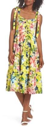 Eliza J Bow Front Tie Strap Dress (Regular & Petite)