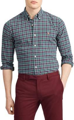 Polo Ralph Lauren Classic-Fit Plaid Oxford Shirt