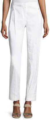 Elie Tahari Bennet Linen-Blend Pants, White