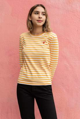 Comme des Garcons Women's Play Striped Tee