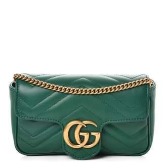 Gucci Marmont Matelasse GG Super Mini Emerald Green
