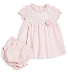 Kissy Kissy Baby's Two-Piece Ruffled Dress& Bloomers Set