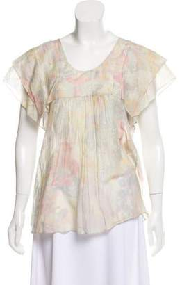 Stella McCartney Floral Cap Sleeve Top
