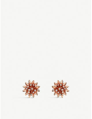 Gucci Flora 18ct pink gold earrings, pink