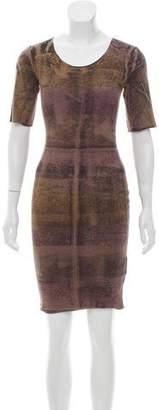Raquel Allegra Printed Knee-Length Dress w/ Tags