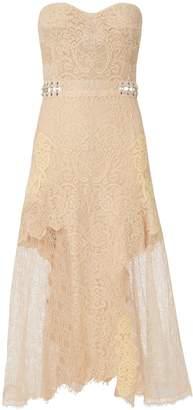 Jonathan Simkhai Grommet Bustier Lace Midi Dress