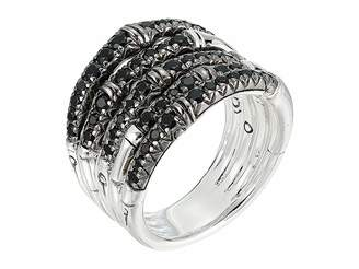 John Hardy Bamboo Ring with Black Sapphire