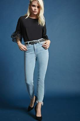Forever 21 Cropped High-Rise Jeans