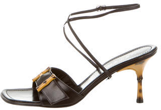 Casadei Leather Ankle Strap Sandals $175 thestylecure.com