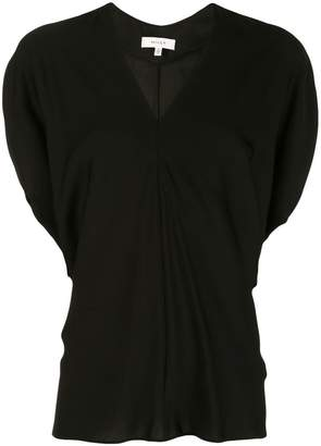 Milly ruffled v-neck blouse