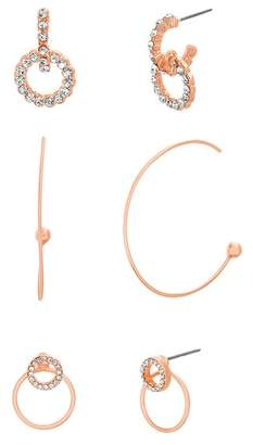 Steve Madden Hoop Earrings Set
