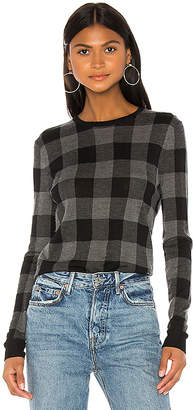 Theory Plaid Crew Pullover