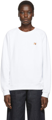 MAISON KITSUNÉ White Fox Head Sweatshirt