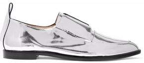 Loeffler Randall Agnes Mirrored-Leather Slip-On Brogues