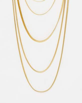 Luv Aj Cascading Snake Chain Necklace