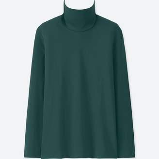 Uniqlo WOMEN Compact Cotton Turtle Neck Long Sleeve T-Shirt