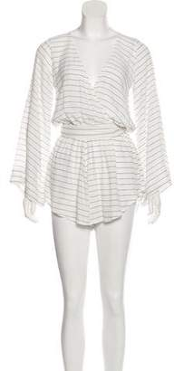 Faithfull The Brand Long Bay Stripe Romper w/ Tags