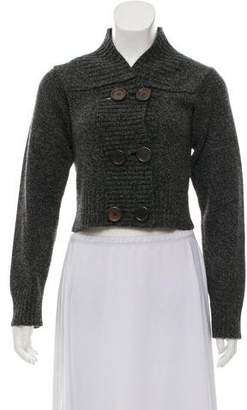 Chloé Cropped Button Front Cardigan