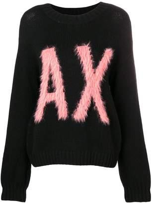 Armani Exchange logo lettering jumper