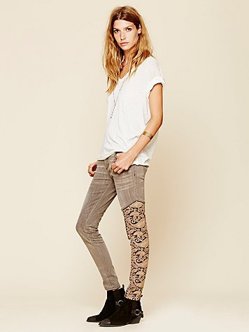 Free People Navarra Embroidered Relaxed Skinny
