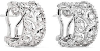 Buccellati Ramage 18-karat White Gold Diamond Hoop Earrings