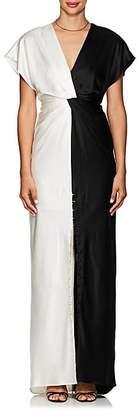 Prabal Gurung Women's Colorblocked Silk Charmeuse Gown - Black, White