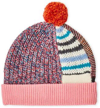 Burberry Mixed Stitch Pom-Pom Hat