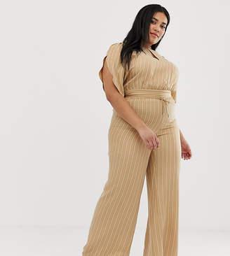 Current Air Plus stripe wide leg trouser