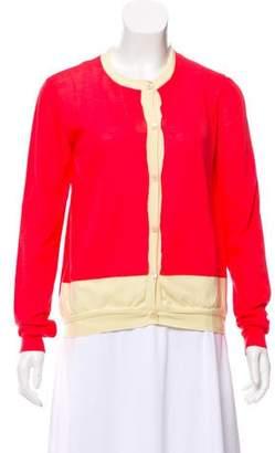 Marni Colorblock Long Sleeve Cardigan