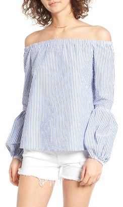 Women's Wayf Rushville Off The Shoulder Top $65 thestylecure.com