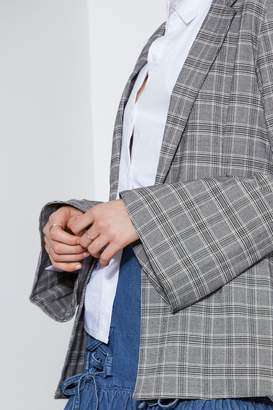 THE FIFTH CENTURY CHECK BLAZER grey check