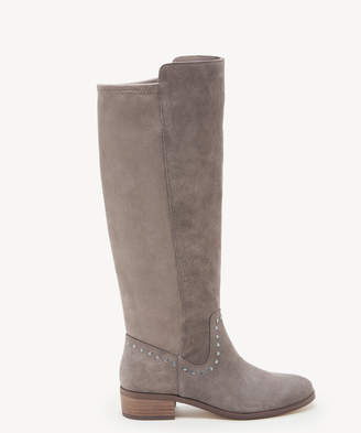 Sole Society Women's Calvenia Studded Tall Boots Fall Taupe Size 5 Suede From
