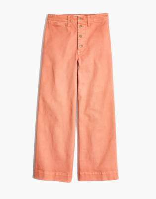 Madewell Tall Emmett Wide-Leg Crop Pants: Button-Front Edition