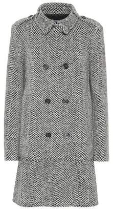 RED Valentino Herringbone virgin wool coat