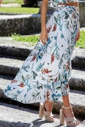 Elan International Floral Wrap Skirt