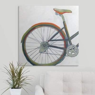 Wayfair 'Bicycle Diptych I' Hyden Painting Print