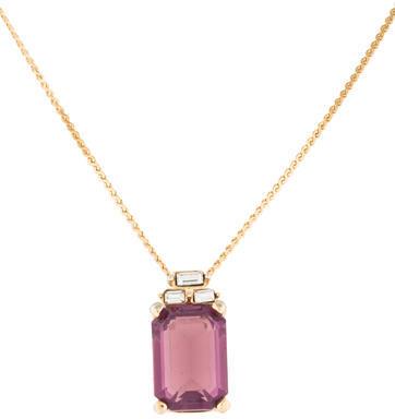 Christian Dior Christian Dior Purple Crystal Pendant