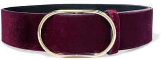 Frame Velvet Belt - Burgundy