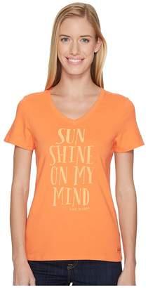 Life is Good Sunshine Mind Crusher Vee Women's T Shirt