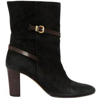 Avril Gau Black Suede Ankle Boots