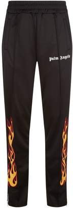 Palm Angels Tailored Flame Printed Sweatpants