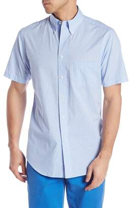 Brooks Brothers Short Sleeve Regent Fit Gingham Print Woven Shirt
